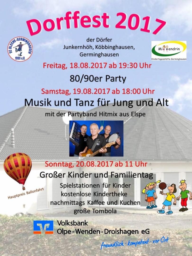 Kindergarten läd ein zum Dorffest!